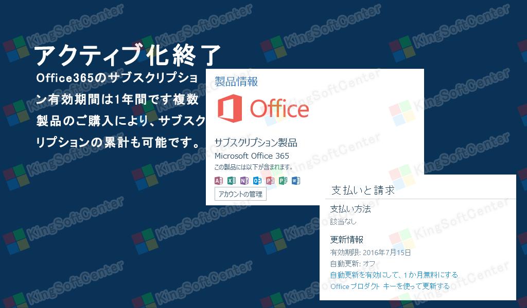 Office 365 Premiumインストール終了